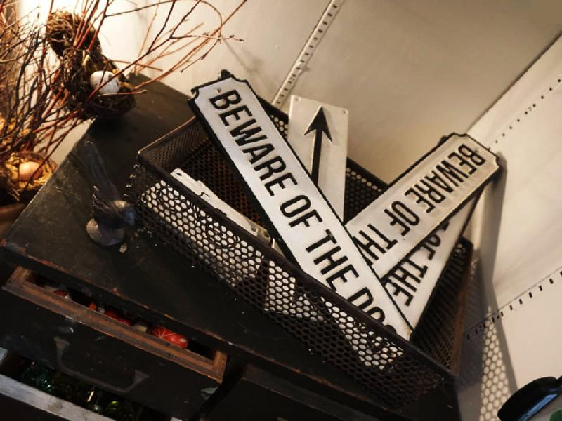 Beware of Dog Sign - The Iron Grate Fenton