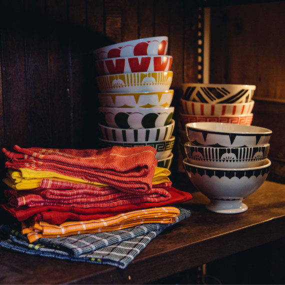 Bowls and Kitchen Towels - The Iron Grate