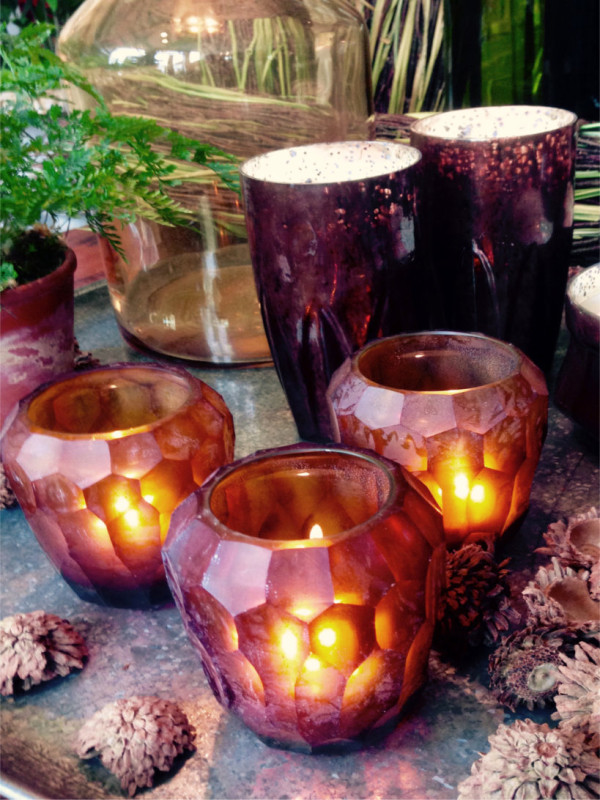 Glass Votives Candles - The Iron Grate