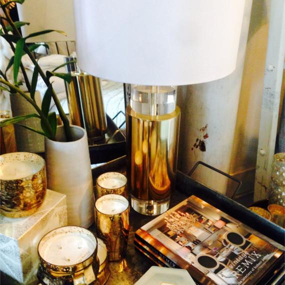 Lamp White and Lamp Shade - The Iron Grate Fenton MI
